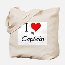 I Love My Captain Tote Bag