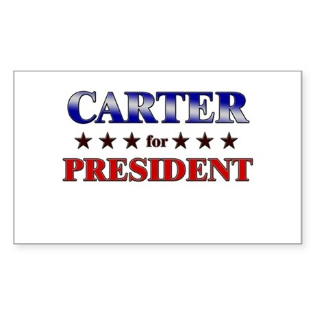 CARTER for president Rectangle Sticker