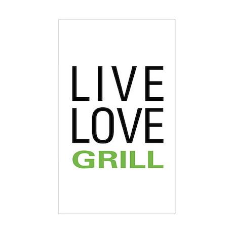 Live Love Grill Sticker (Rectangle)