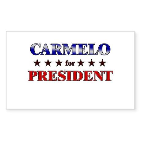 CARMELO for president Rectangle Sticker