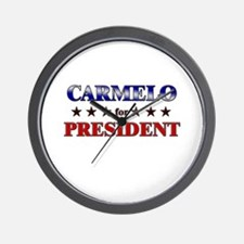 CARMELO for president Wall Clock