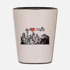I love Seattle Shot Glass