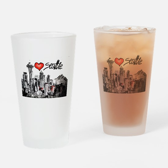I love Seattle Drinking Glass