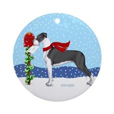 Great Dane Mantle UC Mail Ornament (Round)