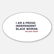 Melania Trump Quote Sticker (Oval)
