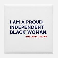 Melania Trump Quote Tile Coaster