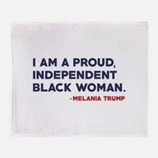 Melania Trump Quote Stadium Blanket