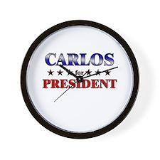 CARLOS for president Wall Clock
