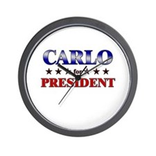 CARLO for president Wall Clock