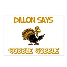 Dillon Says Gobble Gobble Postcards (Package of 8