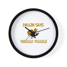 Dillon Says Gobble Gobble Wall Clock