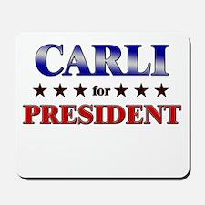 CARLI for president Mousepad
