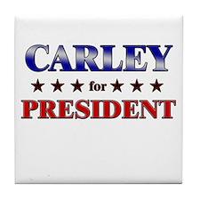 CARLEY for president Tile Coaster
