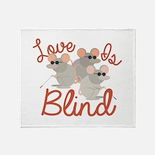 Love Is Blind Throw Blanket