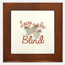 Love Is Blind Framed Tile