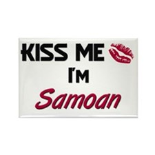 Kiss me I'm Samoan Rectangle Magnet