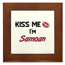 Kiss me I'm Samoan Framed Tile