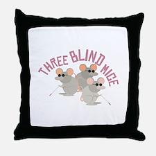 Three Blind Mice Throw Pillow