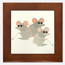Three Blind Mice Framed Tile