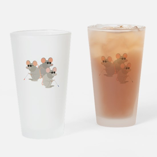 Three Blind Mice Drinking Glass