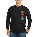 Suriname Stamp Long Sleeve Dark T-Shirt