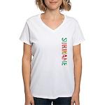 Suriname Stamp Women's V-Neck T-Shirt