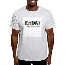 Kauai- Garden Island Ash Grey T-Shirt