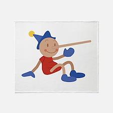 Pinocchio Throw Blanket