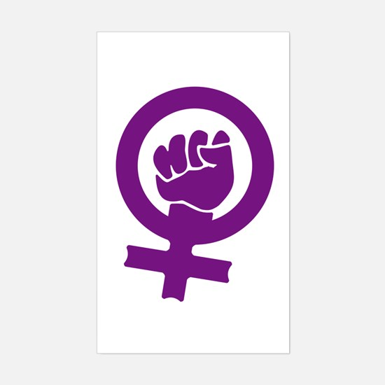 Feminist Power Rectangle Decal