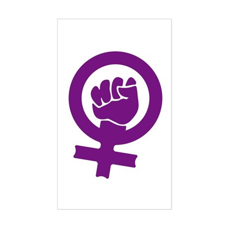 Feminist Power Rectangle Sticker