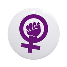 Feminist Power Ornament (Round)