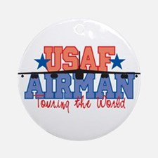 USAF Airman Ornament (Round)