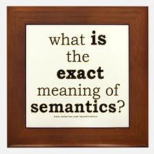 Funny Semantics Joke Framed Tile