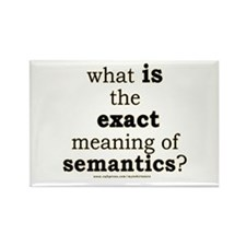Funny Semantics Joke Rectangle Magnet