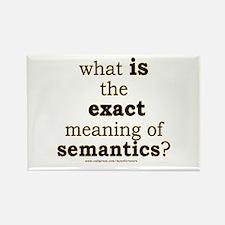 Funny Semantics Joke Rectangle Magnet