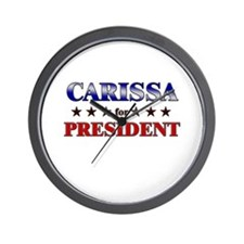 CARISSA for president Wall Clock