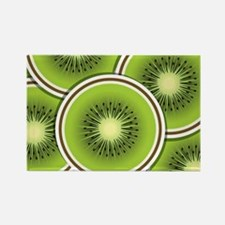 Funky kiwi fruit slices Rectangle Magnet