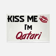 Kiss me I'm Qatari Rectangle Magnet
