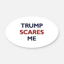 Trump Scares Me Oval Car Magnet