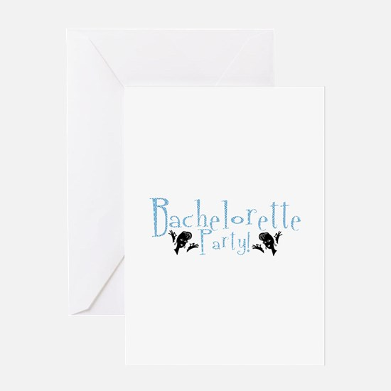 Bachelorette Party - Retro A- Greeting Card