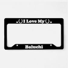 I Love My Baluchi Horse License Plate Holder