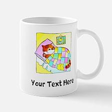 Cat In Bed (Custom) Mugs