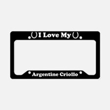 I Love My Argentine Criollo Horse License Plate Ho