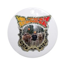 Hi tech Redneck for the count Ornament (Round)