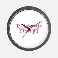 Bachelorette Party - Red Mart Wall Clock