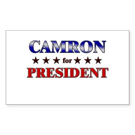 CAMRON for president Rectangle Sticker