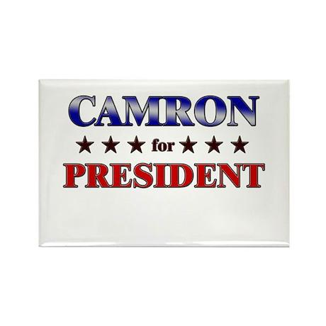 CAMRON for president Rectangle Magnet