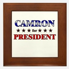 CAMRON for president Framed Tile