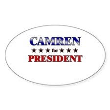CAMREN for president Oval Decal