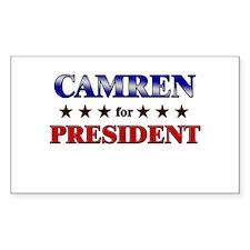 CAMREN for president Rectangle Decal